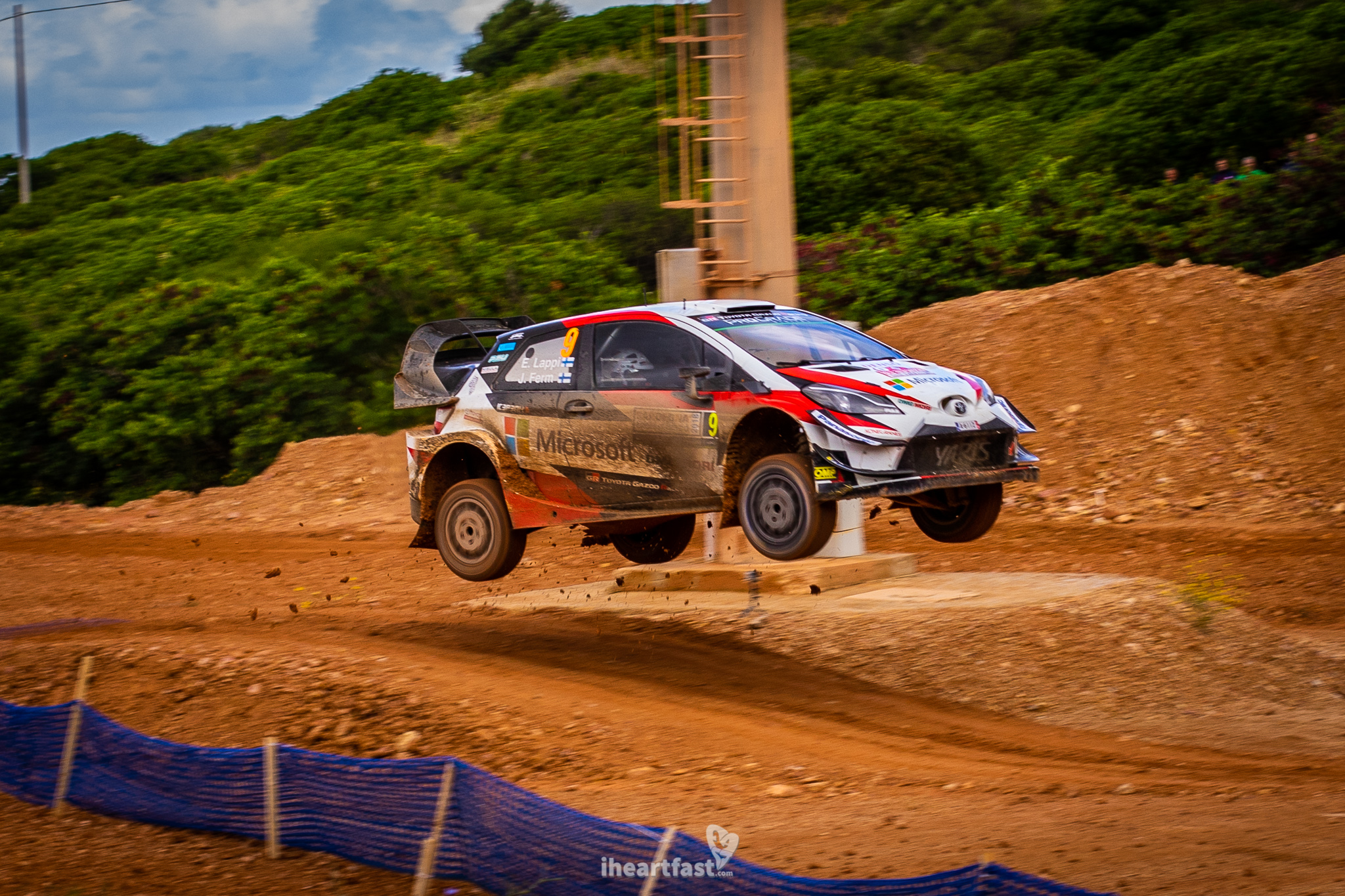 Lappi sending it over a jump