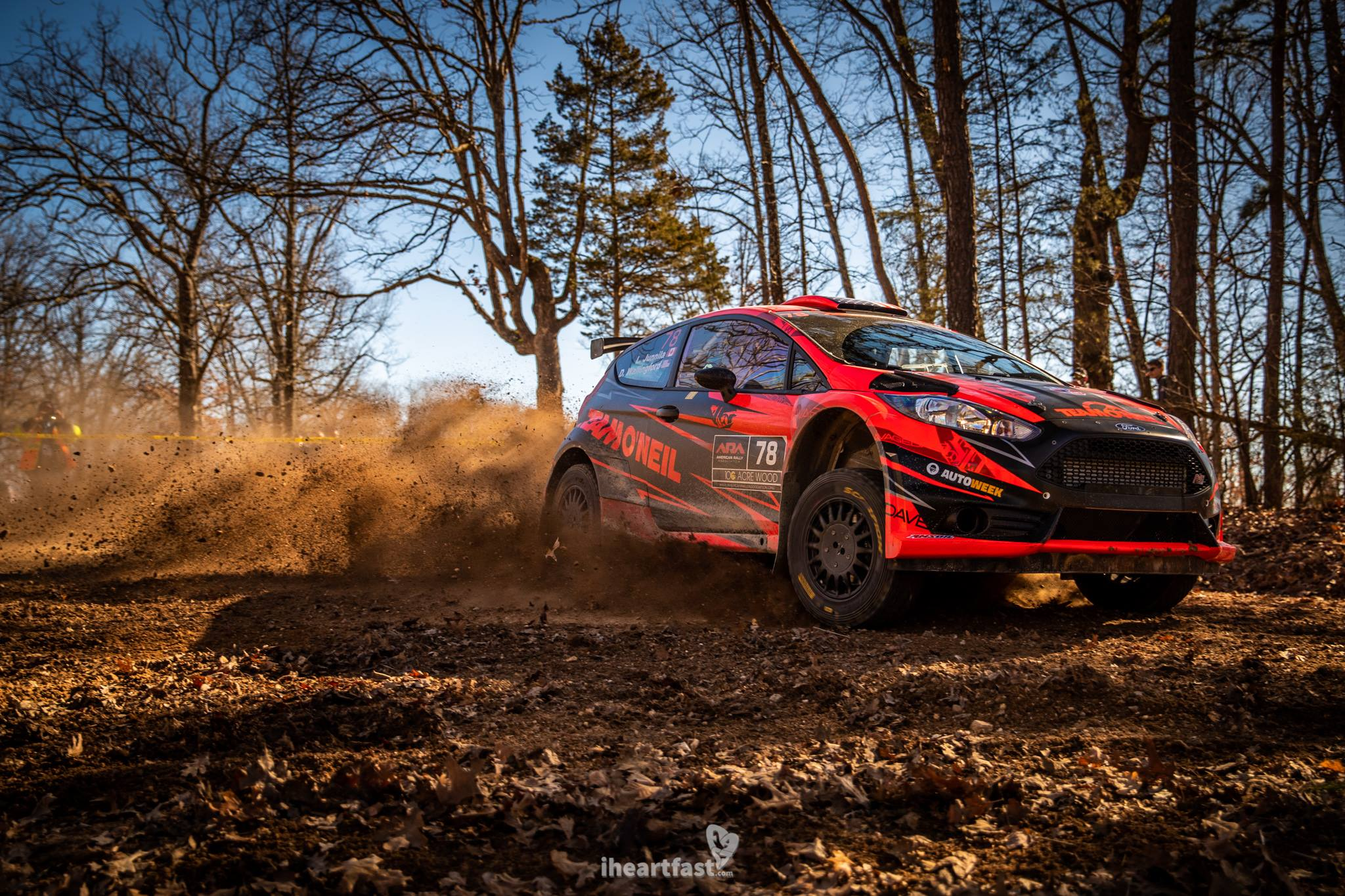 Dave Wallingford and Leanne Junilla make their return to 100AW in a Ford Fiesta R5