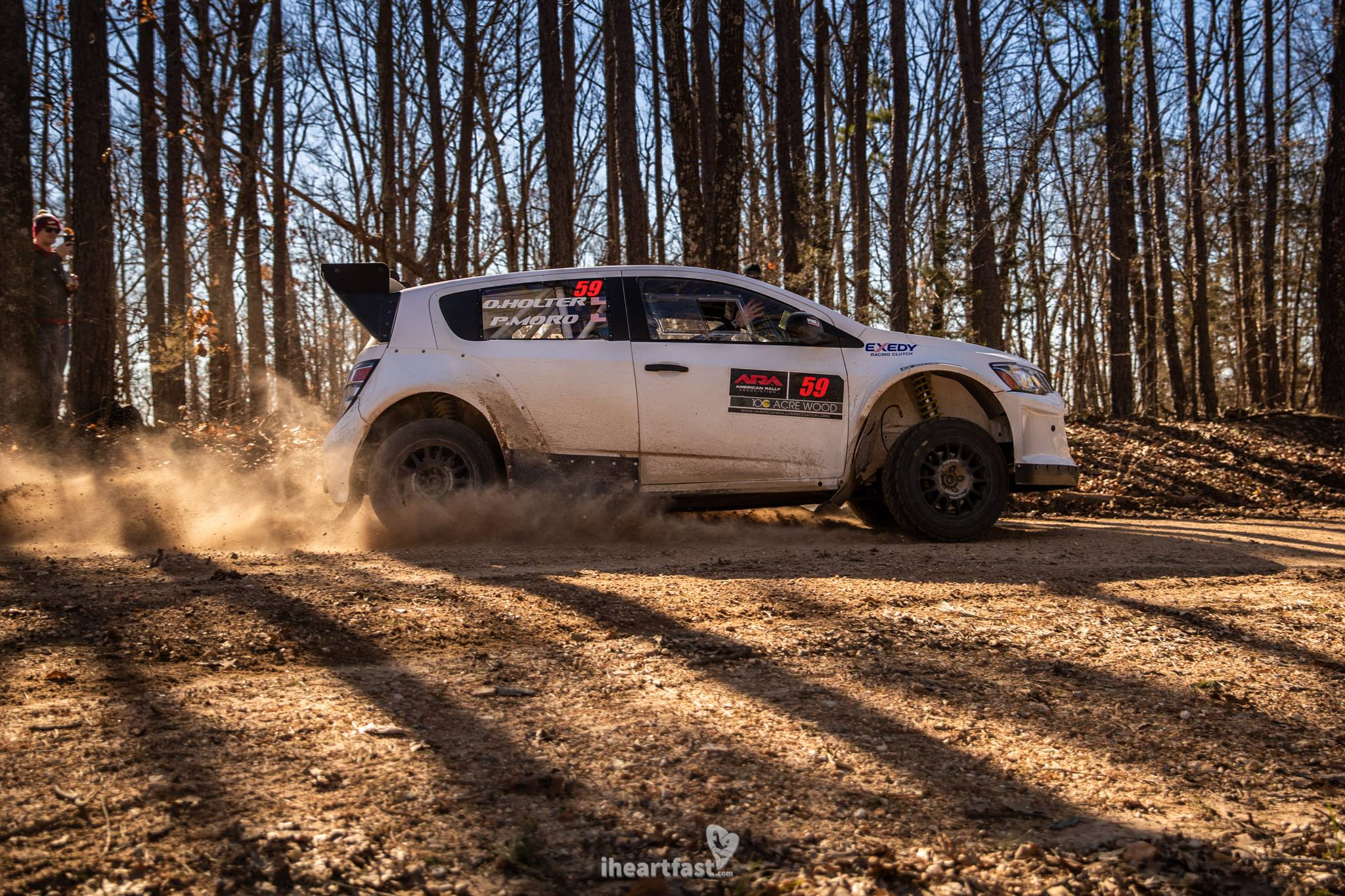 Patrick Moro in a v8 AWD Chevy Sonic